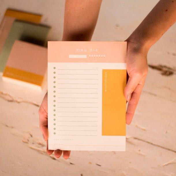 bloco de papel meu dia coleção por mim - mim papelaria