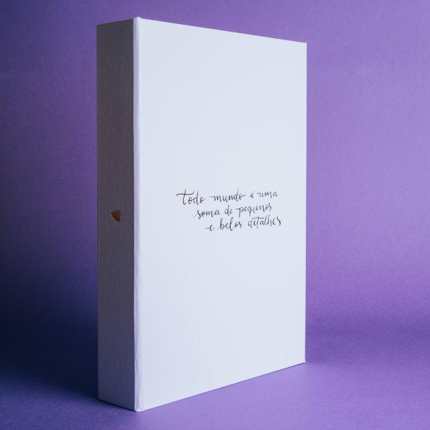 caixa para fotos memórias 3 divisórias - coleção sweetheart - mim papelaria