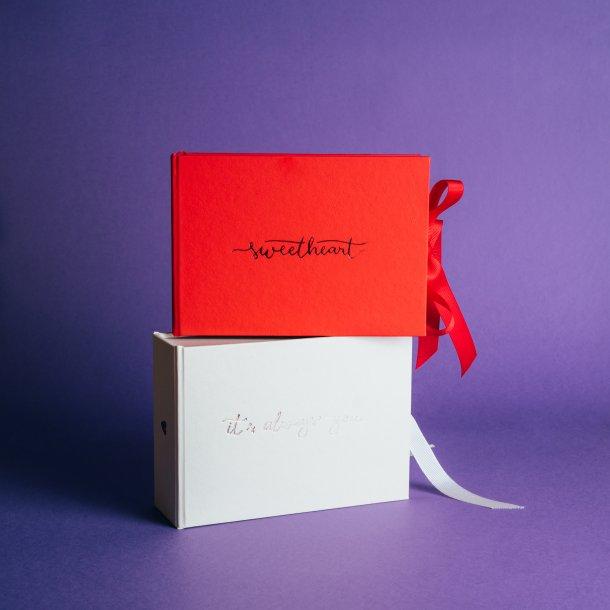 caixa para fotos p em laço - coleção sweetheart - mim papelaria