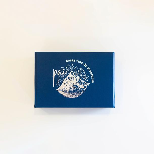 caixa para fotos p - coleção pais vida de  aventuras - mim papelaria