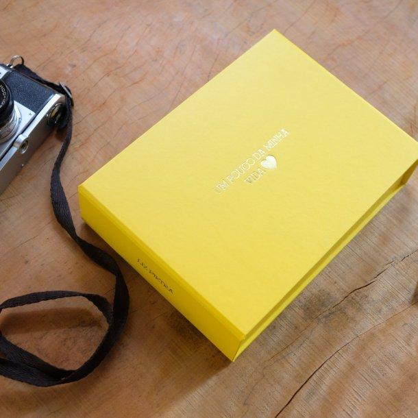 caixa para fotos m personalizada - mim papelaria