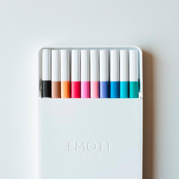 canetas emott 10 unidades