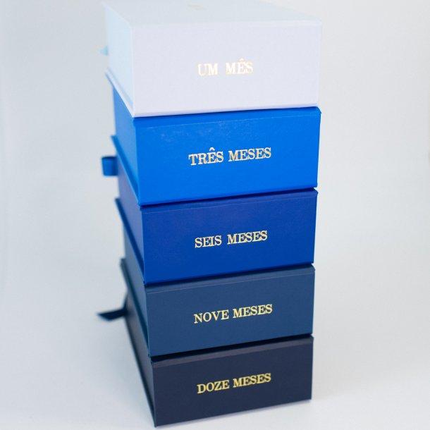 conjunto de caixa p com gravação de meses - pronta entrega - mim papelaria