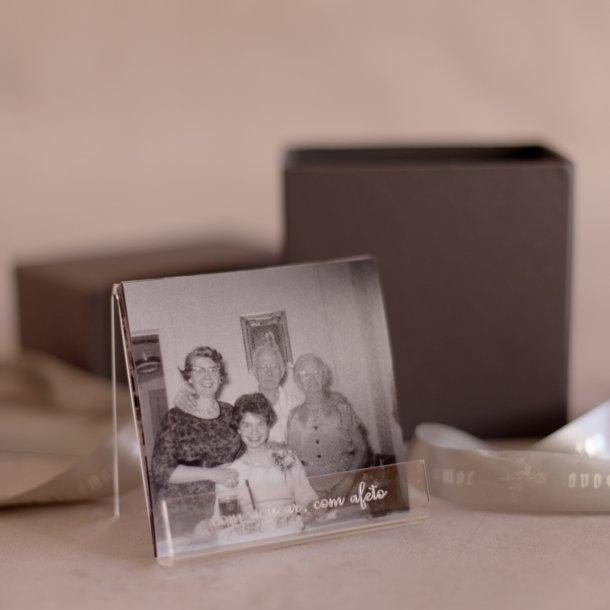 kit acrílico com fotos dia dos avós - com açúcar, com afeto - mim papelaria