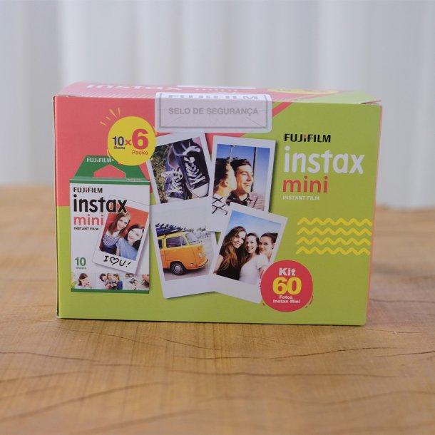 pack de filme fuji para câmera instax colorido - 60 unidades