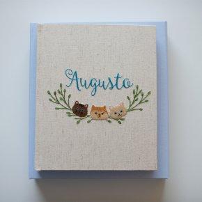 Imagem - álbum de fotos meu primeiro aninho - bordado à mão - mim papelaria