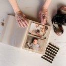 álbum de fotos m em linho cru - coleção coração - mim papelaria 3
