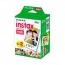 pack de filme fuji para câmera instax colorido - 20 unidades