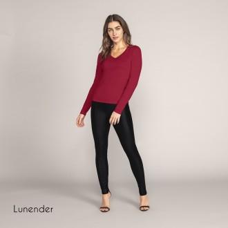 Imagem - Blusa Basica de Cotton Feminino Lunender - 1679012_11374-VERMELHO BULGARIA