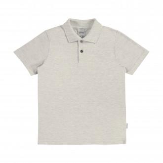 Imagem - Camisa Polo De Malha Masculina Infantil - Alakazoo! - 1393420_2820-MESCLA CLARO