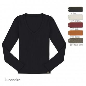 Imagem - Blusa Basica Canelada Lunender - 1679001_11015-OFF WHITE