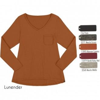 Blusa Basica de Malha Lunender