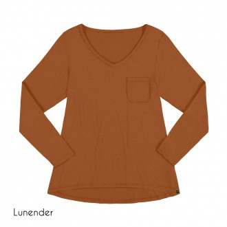 Imagem - Blusa Basica de Malha Lunender - 1679002_17893-MARROM CUMARU