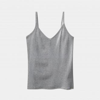 Blusa canelada de alça -Lunender