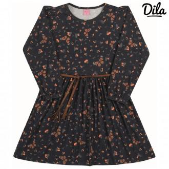 Imagem - Vestido Cotton Sublimado Feminino Para Criança Dila - 2121156_12-AZUL