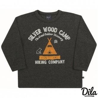 Imagem - Camiseta Malha Molinê Masculino Para Bebê Dila - 2121163_3-PRETO