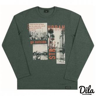 Imagem - Camiseta Malha Molinê Masculino Para Criança Dila - 2121175_7037-VERDE MESCLADO