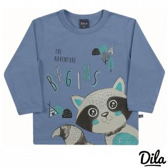 Imagem - Camiseta Malha Masculino Para Bebê Dila - 2121184_6033-AZUL MEDIO