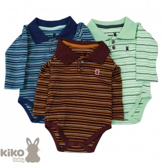 Imagem - KIT C/ 03 Body de Sudiene Polo Kiko Baby - 2212483_SORT-SORTIDO