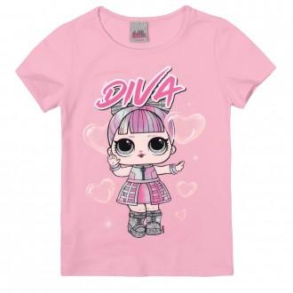 Imagem - Blusa Feminina Infantil LOL - Malwee Kids - 784829_2183--ROSA CLARO