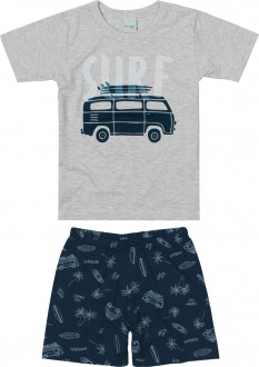 Imagem - Pijama Masculino Juvenil de Malha - Malwee Kids - 784839_40000--CINZA CLARO