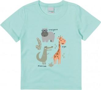 Camiseta Masculina Bebê De Malha - Malwee Kids ;