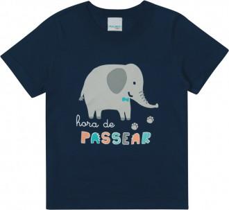Imagem - Camiseta Masculina Bebê De Malha - Malwee Kids ; - 784820_2023--AZUL ESCURO