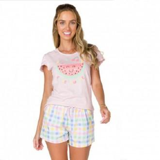 Imagem - Pijama Adulto Feminino de Malha - BELA NOTTE - 1049076_rosa-rosa