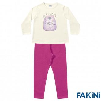 Imagem - Conjunto Casaco e Legging Feminino Fakini - 1829111_MAR-MARFIM