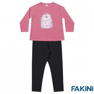 Conjunto Casaco e Legging Feminino Fakini