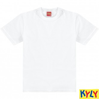 Camiseta Basica  Meia Malha Masculino Infantil - Kyly