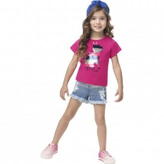 Imagem - Blusa Malha Feminino Infantil Bordado Lantejoulas Kyly - 1532231_40064-ROSA