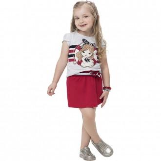 Conjunto Feminino Malha Short Saia Infantil Kyly