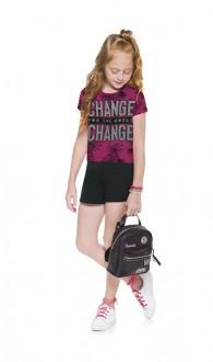 Imagem - Conjunto Feminino Juvenil Cropped Com Shorts - KYLY - 1532252_40007-MAGENTA