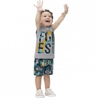 Imagem - Conjunto Malha Masculino Infantil Kyly - 1532235_0020-MESCLA