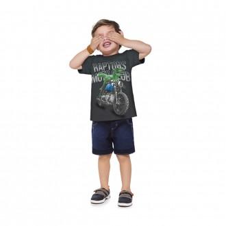 Camiseta Masculino Estampado Malha Infantil Kyly