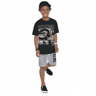 Imagem - Conjunto Masculino Infantil Malha Com Moletom Kyly - 1532212_9010-PRETO