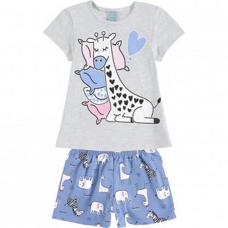 Conjunto Pijama Feminino Infantil Brilha no Escuro Kyly