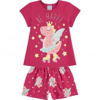 Imagem - Pijama Feminino Infantil - KYLY - 1532273_40056--ROSACARMIM