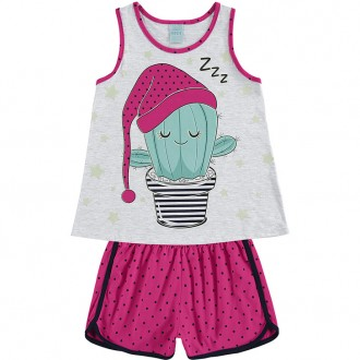Imagem - Pijama Regata Feminino Juvenil - KYLY - 1532306_0467-MESCLA WHITE