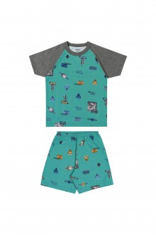 Pijama Masculino de Malha para Bebê - Elian
