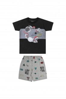 Pijama Masculino Infantil Meia Malha - Elian