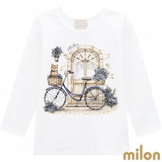 Imagem - Blusa Cotton Feminina Infantil Milon - Kyly - 420924_0452-OFF WHITE