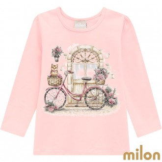 Blusa Cotton Feminina Infantil Milon - Kyly