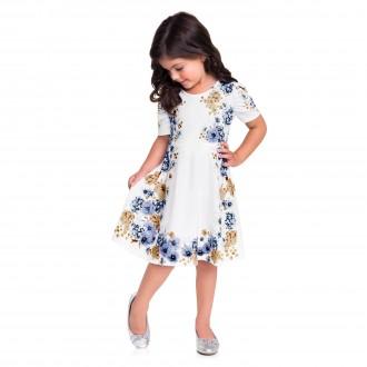 Imagem - Vestido Meia Malha Infantil - MILON - 420941_6841--AZUL HORIZONTE
