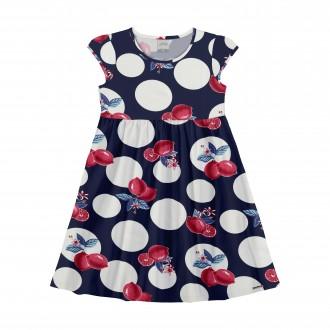 Imagem - Vestido de Malha Infantil - Alakazoo! - 1393537_N7782R-MARINHO