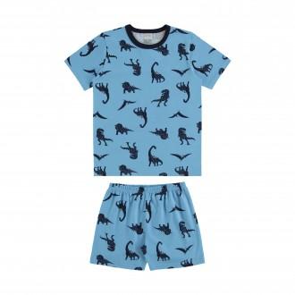 Imagem - Pijama de Malha Infantil Masculino - Alakazoo! - 1393721_15125--AZUL FUSCA