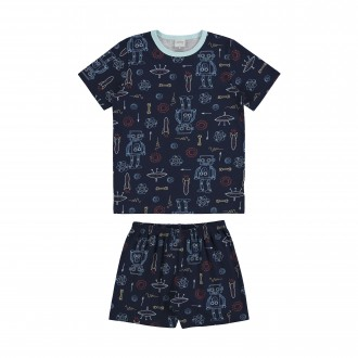 Pijama de Malha Infantil Masculino - Alakazoo!