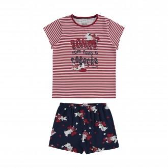 Imagem - Pijama Feminino de Malha - Alakazoo! - 1393723_17563--VERMELHO STOP