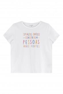 Camiseta Feminina Meia Malha Adulto - Marialícia
